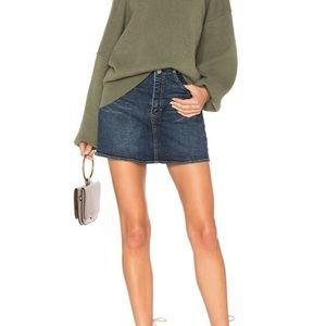 NWOT Free People She's All That Denim Mini Skirt